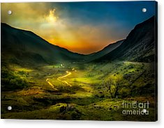 Valley Shadows Acrylic Print by Adrian Evans