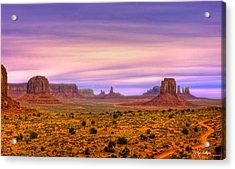 Valley Trail Acrylic Print by Darryl Gallegos
