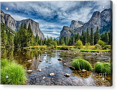 Valley View And The Merced Acrylic Print
