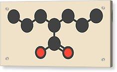 Valproic Acid Epilepsy Drug Molecule Acrylic Print by Molekuul