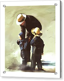 Acrylic Print featuring the painting Value Your Children by Bob Salo