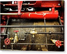 Valves Lines And Tanks Acrylic Print