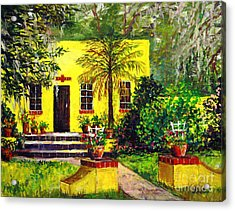 Acrylic Print featuring the painting Vamo Road House by Lou Ann Bagnall