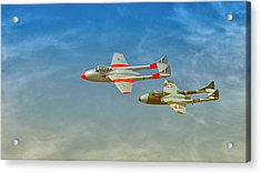 Vampire Jets Acrylic Print by Johan Combrink