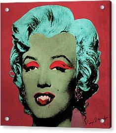 Vampire Marilyn Variant 1 Acrylic Print by Filippo B