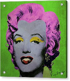 Vampire Marilyn Variant 2 Acrylic Print by Filippo B