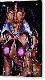 Vampirella Acrylic Print by Bill Richards