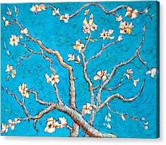 Van Gogh Almond Blossom Slightly Interpreted Acrylic Print