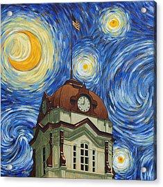 Van Gogh Courthouse Acrylic Print