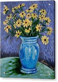 Van Gogh-ish Flowers In A Vase Acrylic Print