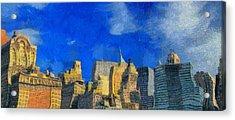 Van Gogh Meets Manhattan Acrylic Print by Dan Sproul