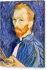 Acrylic Print featuring the photograph Van Gogh On Van Gogh by Cora Wandel