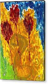 Van Gogh's Garden Of Eden Acrylic Print