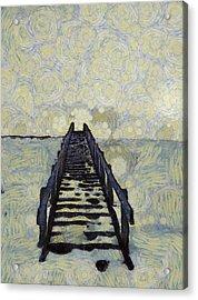 Van Gogh's Starry Walk Acrylic Print by Dan Sproul