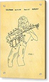 Van Halen Instrument Support Patent Art 1987 Acrylic Print