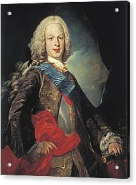 Van Loolouis Michel 1707-1771. Portrait Acrylic Print