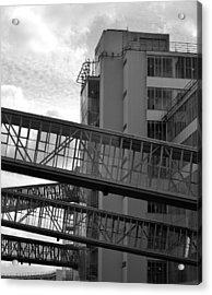 Van Nelle Factory Bw II Acrylic Print by Eric Keesen