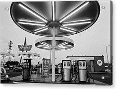 Van Nuys Boulevard Gas Station Symbols Mys 10 Acrylic Print by Richard McCloskey