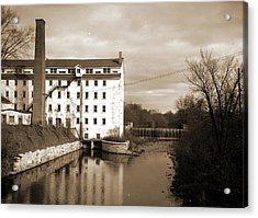 Van Sicklers Mill, Pittsfield, Mass, Industrial Facilities Acrylic Print