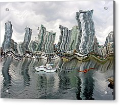 Acrylic Print featuring the photograph Vancouver Abstracted by Gerry Bates