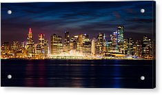 Vancouver At Christmas Acrylic Print by Alexis Birkill