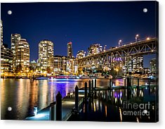 Vancouver At Night Acrylic Print