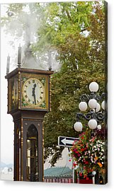 Acrylic Print featuring the photograph Vancouver Bc Historic Gastown Steam Clock by JPLDesigns