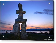 Vancouver Bc Inukshuk Sculpture Acrylic Print