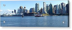 Vancouver Bc Skyline Panorama Canada. Acrylic Print by Gino Rigucci