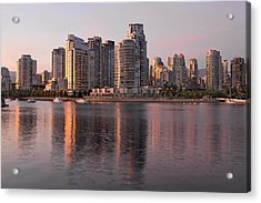 Acrylic Print featuring the photograph Vancouver Bc Waterfront Condominiums by JPLDesigns