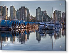 Vancouver Boat Reflections Acrylic Print by Eti Reid