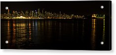 Vancouver By Night Acrylic Print