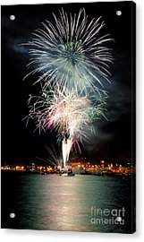 Vancouver Canada Day Fireworks 2014 - 1 Acrylic Print by Terry Elniski