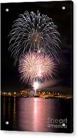 Vancouver Canada Day Fireworks 2014 - 3 Acrylic Print by Terry Elniski