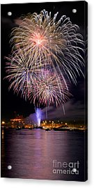 Vancouver Canada Day Fireworks 2014 - 4 Acrylic Print by Terry Elniski
