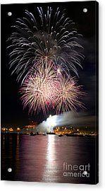 Vancouver Canada Day Fireworks 2014 - 5 Acrylic Print by Terry Elniski