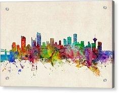 Vancouver Canada Skyline Acrylic Print by Michael Tompsett