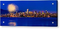 Vancouver Celebration Of Light Fireworks 2013 - Day 1 Acrylic Print by Alexis Birkill