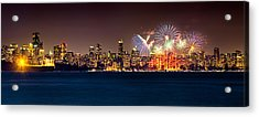 Vancouver Celebration Of Light Fireworks 2013 - Day 2 Acrylic Print