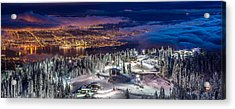 Vancouver City Panorama From Grouse Mountain  Acrylic Print