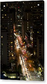 Vancouver Evening Acrylic Print by Ning Mosberger-Tang