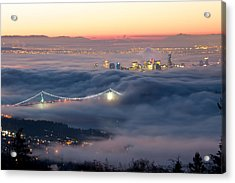 Vancouver Fog Acrylic Print