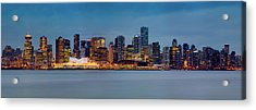 Vancouver From Lonsdale Quay Acrylic Print