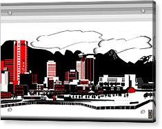 Vancouver Graphic Illustration Acrylic Print by Mario Carini