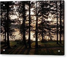 Vancouver Island Sunrise Acrylic Print by Inge Riis McDonald