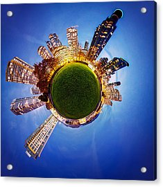 Vancouver Little Planet Acrylic Print by Alexis Birkill