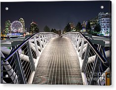 Vancouver Olympic Village Canoe Bridge - By Sabine Edrissi  Acrylic Print by Sabine Edrissi