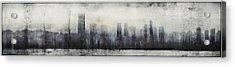 Vancouver Skyline Abstract 1 Acrylic Print