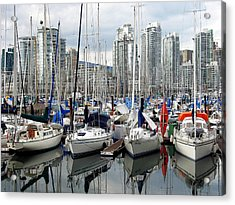 Acrylic Print featuring the photograph Vancouver Skyline by Gerry Bates