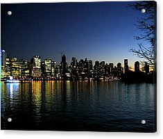 Vancouver Skyline Acrylic Print by Will Borden